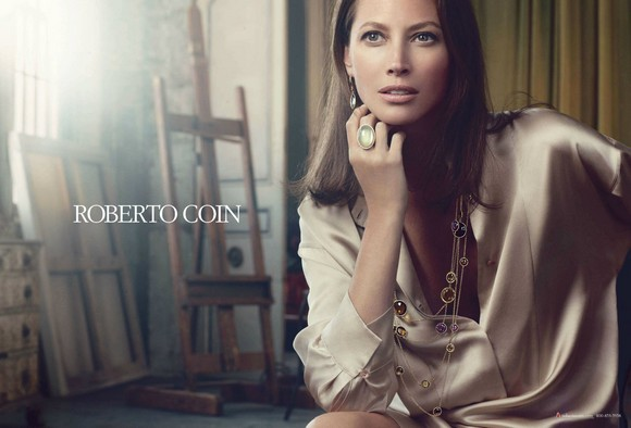 """The Winter Collections of of Roberto Coin""  Roberto Coin at Baselworld Christy Turlington for Roberto Coin Fall Winter 2011"