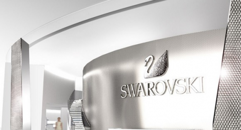 """""""At Basel World 2014, the world's biggest and most important event in the watch and jewellery industry, Swarovski will present a spectacular stand designed by Tokujin Yoshioka.""""  Basel World Swarovski 2014 Sem T  tulo 480x260"""