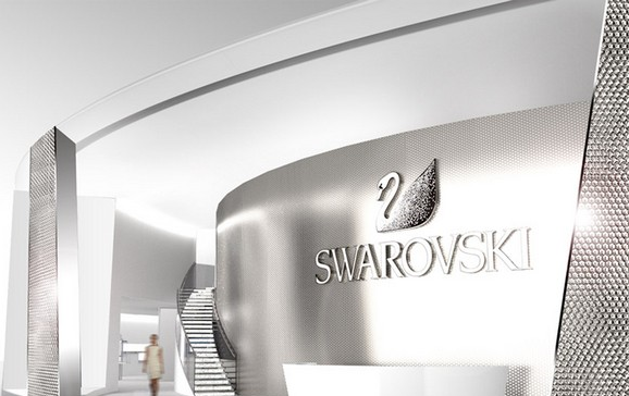 """At Basel World 2014, the world's biggest and most important event in the watch and jewellery industry, Swarovski will present a spectacular stand designed by Tokujin Yoshioka.""  Basel World Swarovski 2014 Sem T  tulo"