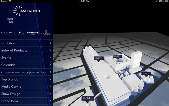 """The new BASELWORLD App is now available free of charge in the App Store.""  BASELWORLD NEW APP 2014 feature  Home feature"