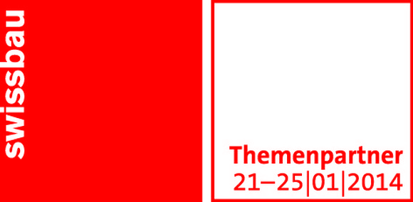 """Today starts SWISSBAU 2014 a biennial event here in Basel, Switzerland.""  Swissbau 2014 Review swb14 Logo Themenpartner d 4c"