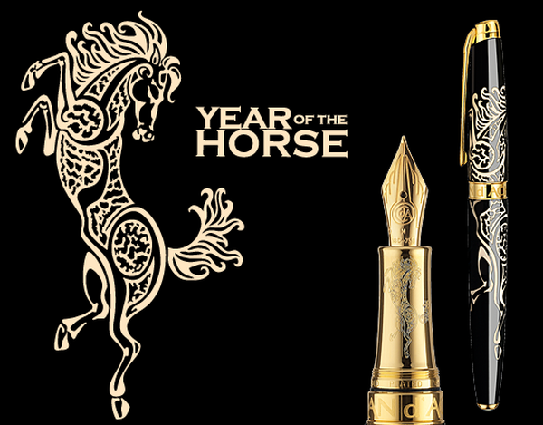 """Caran d'Ache introduces the latest addition to its Artiste Collection. A genuine tribute to the richness of Chinese culture and a magnificent demonstration of Swiss Made expertise by the Geneva Company's masters of lacquering.""  Limited Edition ""Year of the Horse"" Caran dAche Year of the Horse pen  Home Caran dAche Year of the Horse pen"