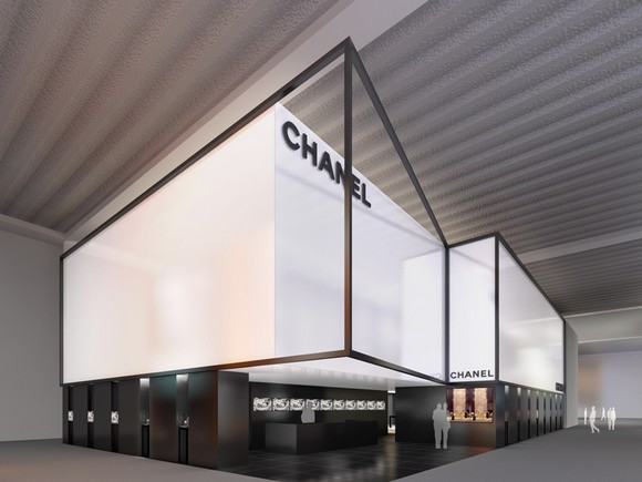 """Two day for BaselWorld. Almost starting the biggest jewelery fair in the world. Because it's so important fair the brands make a big investment in the stand. "" baselworld Imposing Design Stands at Baselworld CHANEL BASEL STAND"