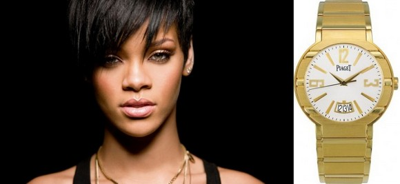 Rihanna - Piaget  Top 7 Celebrities With the Most Expensive Swiss Watches rihanna watches