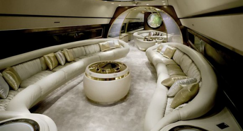 The private jet itself it's an extreme luxury form, but the interiors of it can be also. private jets interiors Extreme Luxury: Inside Private Jets Interiors Private Jets Luxury Interiors extreme luxury 480x260