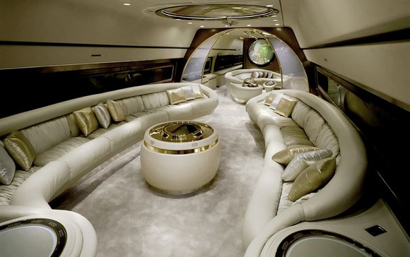 The private jet itself it's an extreme luxury form, but the interiors of it can be also. private jets interiors Extreme Luxury: Inside Private Jets Interiors Private Jets Luxury Interiors extreme luxury