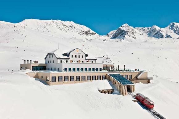 Winter Escapade: Switzerland's most luxurious hotels romantic muottas muragl hotel in Swizerland