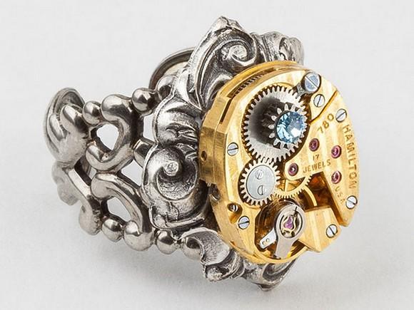 Rare and unique jewelry pieces, rare and unique design pieces, design pieces, jewelry pieces, unique jewelry pieces, Jewelry brands  Rare and unique jewelry pieces Steampunk ring rare jewelry2