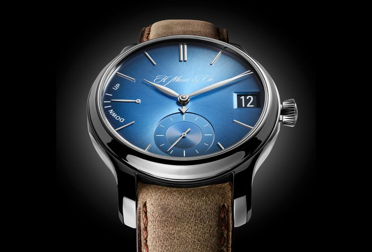 "Basel world news  Pre-Baselworld 2015: Introducing The H. Moser & Cie Endeavor Perpetual Calendar ""Funky Blue"" transferir 740x501"