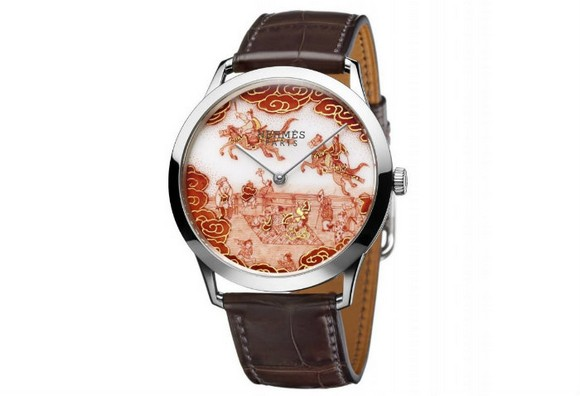 Hermès-Slim-Koma-Kurabé-Watch-Timepiece  Hermès Exclusive Masterpiece Inspired by Asian Motifs Herm  s Slim Koma Kurab   Watch Timepiece