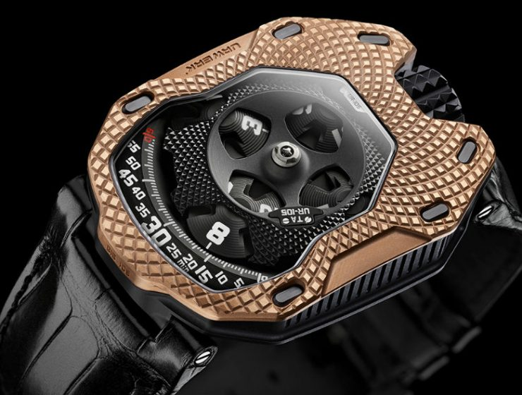 urwerk ur-105 Urwerk UR-105 Raging and the Immortality of Gold Urwerk UR 105 Raging Gold 1 1 740x560