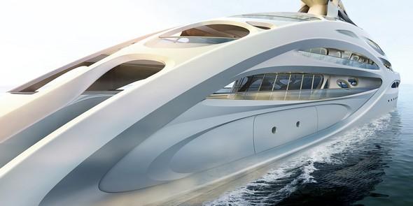 Zaha Hadid Superyacht Limited Edition: Zaha Hadid Superyacht ZHA B V Sideview 90m