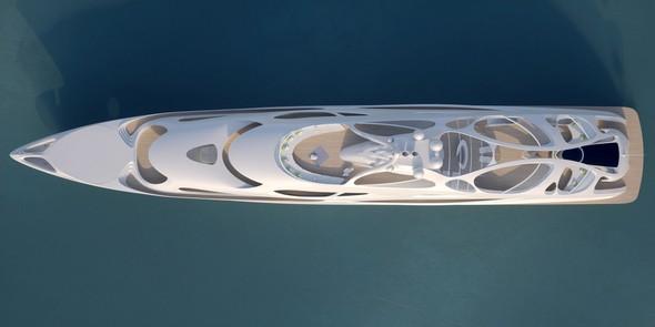 Zaha Hadid Superyacht Limited Edition: Zaha Hadid Superyacht ZHA B V Topview 90m