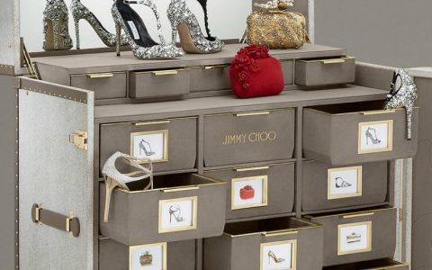 Limited Edition Shoe Cabinet Discover Jimmy Choo Memento Trunk