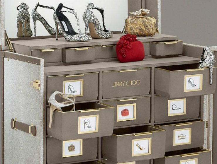 Limited Edition Shoe Cabinet  Discover Jimmy Choo Memento Trunk Jimmy Choo Memento Trunk Limited Edition Shoe Cabinet:  Discover Jimmy Choo Memento Trunk Limited Edition Shoe Cabinet Discover Jimmy Choo Memento Trunk 740x560