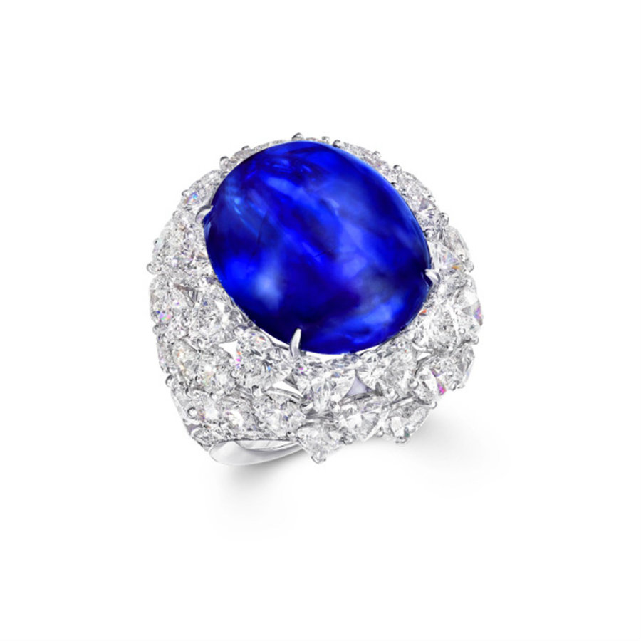 Burst of Colors Burst of Colors: a jewellery exhibition you can't miss 3 Final Graff CabouchonSapphireRing