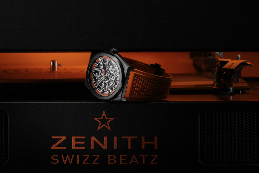 Zenith Defy Orange is the new black with new Zenith Defy Classic Swizz Beatz Zenith Defy Classic Black Ceramic Skeleton Swizz Beatz Edition 4