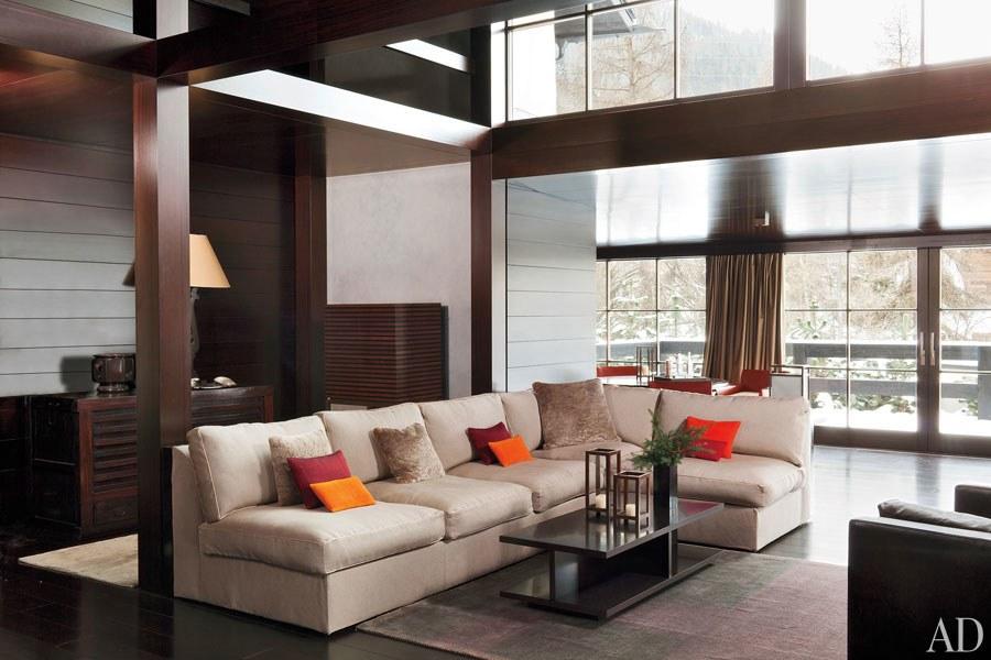 Check out the Giorgio Armani house in Switzerland Giorgio Armani house Check out the Giorgio Armani house in Switzerland livingroom