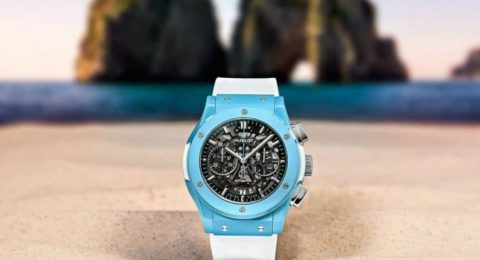 Hublot Unveils Special Watch Hublot Unveils Special Watch Inspired by Capri's Island Beauty Hublot Classic Fusion Aerofusion Chronograph Capri 1 2 480x260