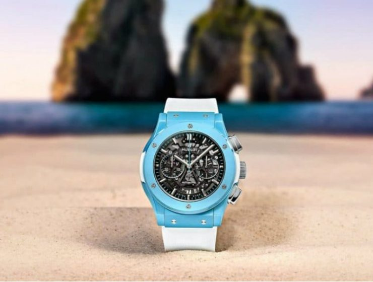 Hublot Unveils Special Watch Hublot Unveils Special Watch Inspired by Capri's Island Beauty Hublot Classic Fusion Aerofusion Chronograph Capri 1 2 740x560